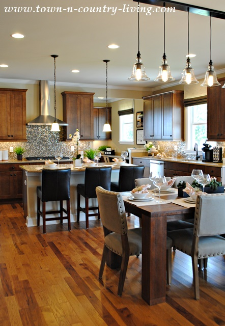 marvellous industrial chic kitchen | Industrial Chic Model Home - Town & Country Living