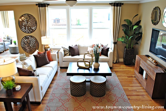 Model Home Living Room Prepossessing Industrial Chic Model Home  Town & Country Living Inspiration