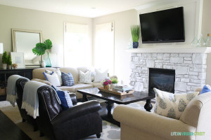 Neutral Colors in Traditional Living Room