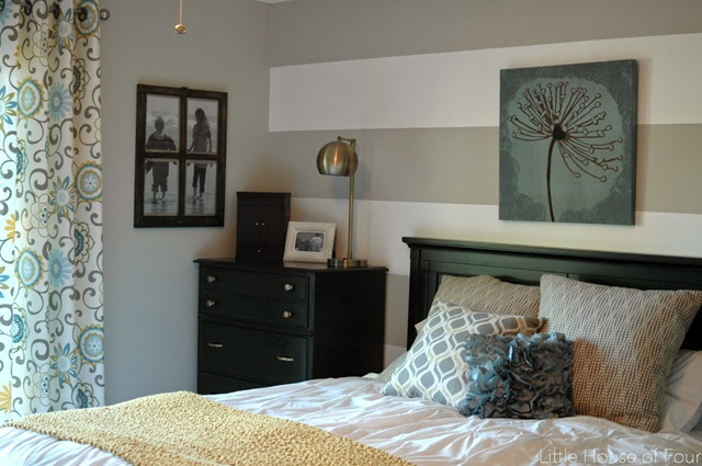 Master Bedroom with striped walls