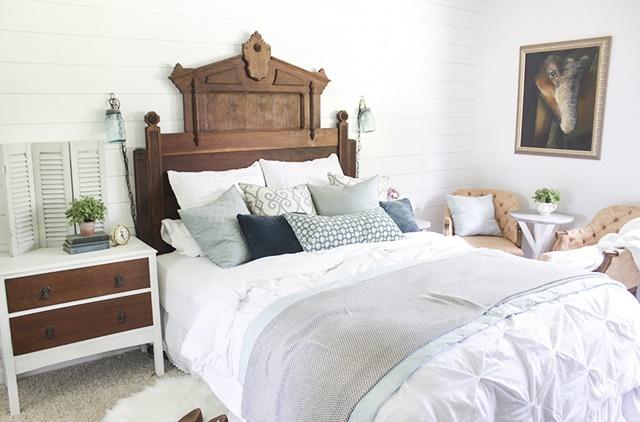 Antique Bed in Master Bedroom