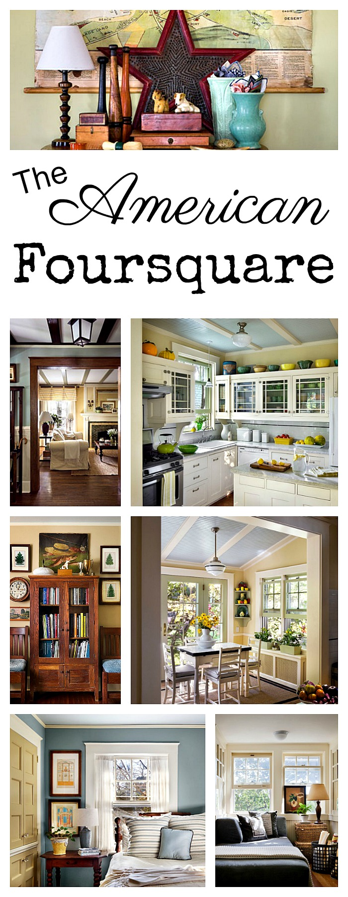Charming home tour the american foursquare town for Classic house tour