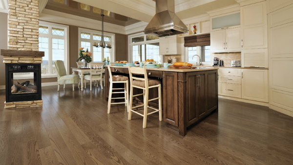 Wood flooring from GoHaus in the kitchen