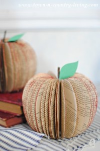 Book Page Apples and Free Printable