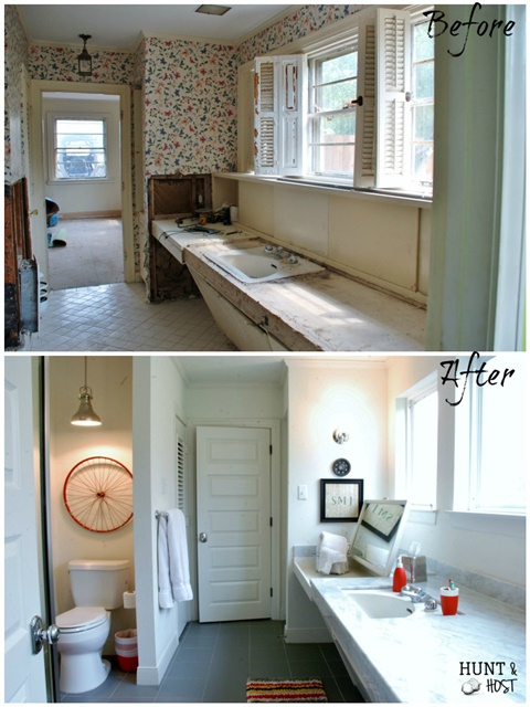 Boys Bathroom Makeover at Hunt and Host