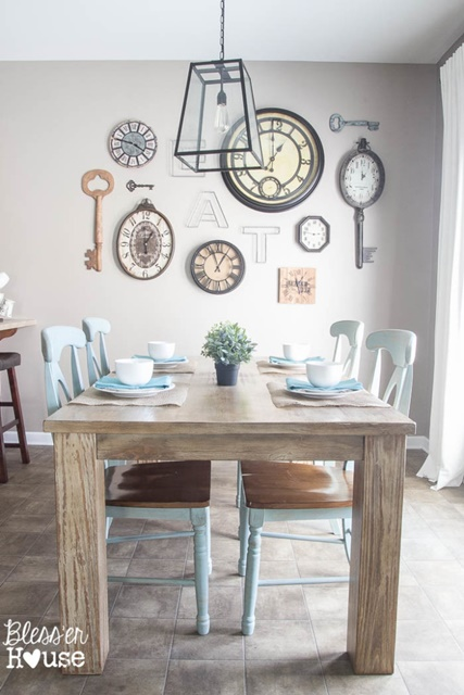 Breakfast Room with Clock Wall