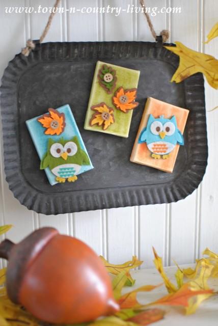 DIY Fall Owl Magnets
