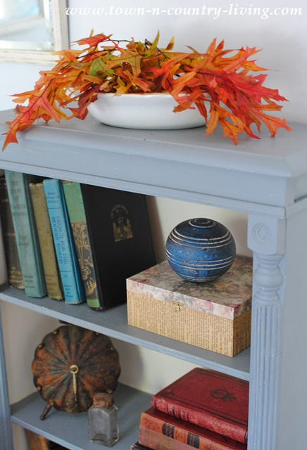 Fall Vignette with Vintage Books