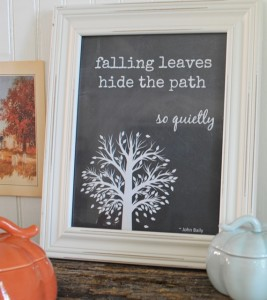 Free Fall Printable ~ Falling Leaves