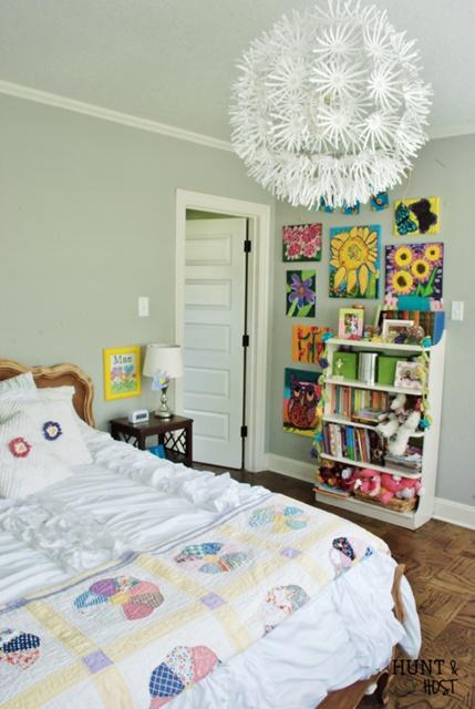 Girl's Eclectic Bedroom