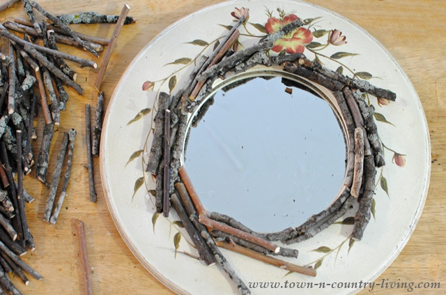 how to make a twig mirror diy jennifer rizzo