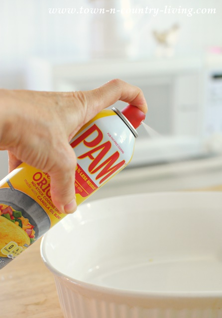 Use PAM Cooking Spray to grease your pots and pans