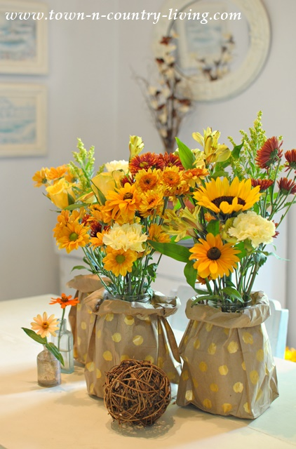 Easy Paper Bag Vases Town Country Living