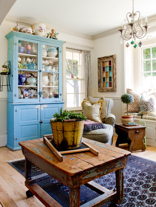 Colorful Farmhouse Living Room