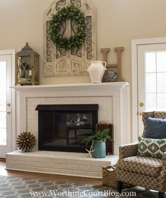 Family Room Painted Fireplace