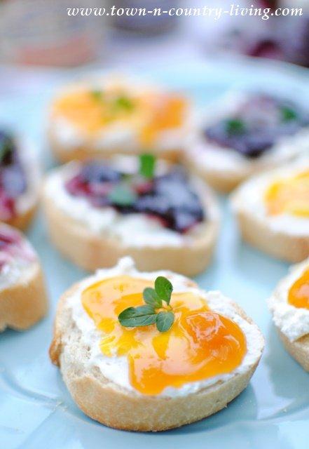 Fruit and Honey Breakfast Crostini
