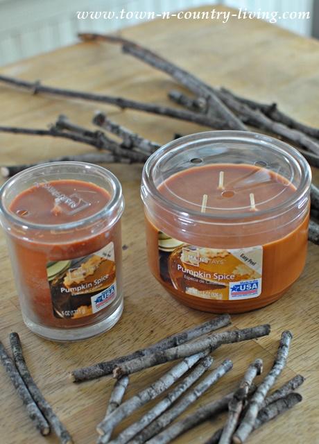 DIY Rustic Twig Candles