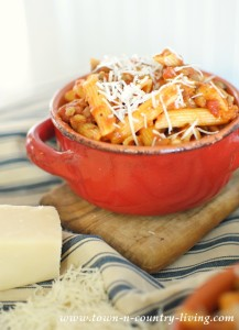 Pasta Pomodoro with Lentils