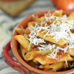 Pasta Pomodoro with Lentils.