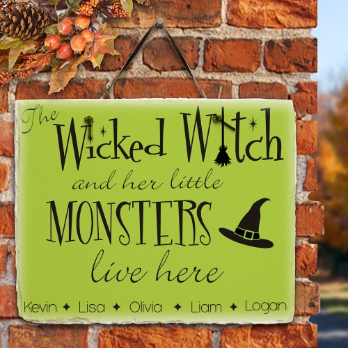 Wicked Witch Halloween Sign
