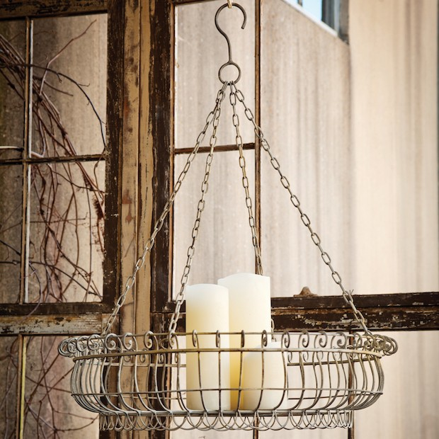 Hanging Wire Farmhouse Basket