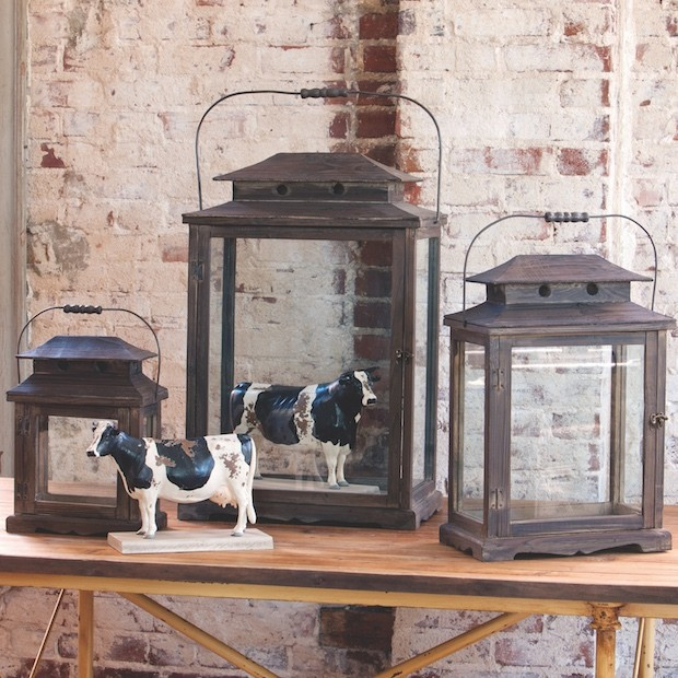 Lanterns made with Reclaimed Wood