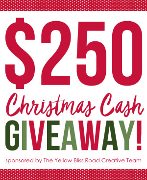 $250 Cash Giveaway for Christmas!