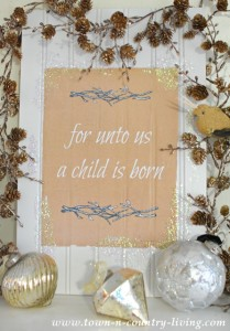 Christmas Printable: A Child is Born