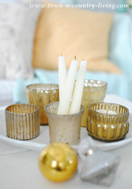 Mercury Glass Votive Candles