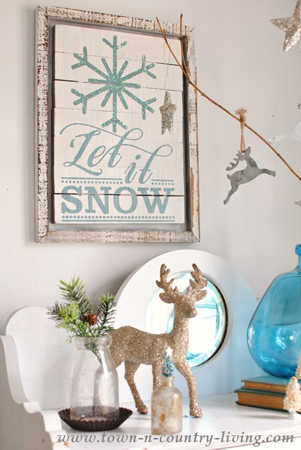 Let It Snow Christmas Decor