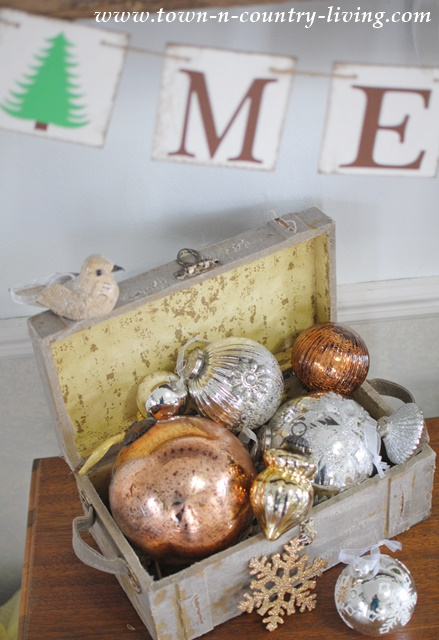 Vintage Box of Ornaments