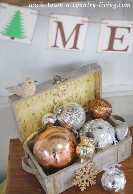 Vintage Box of Ornaments