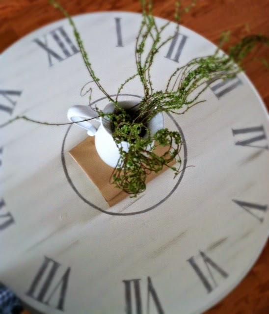 DIY Clock Coffee Table