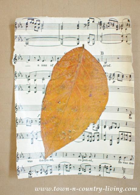 DIY Fall Leaf Art
