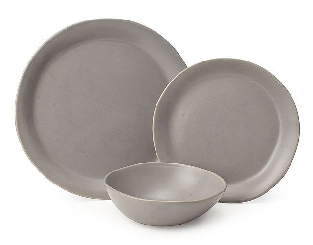 Gray Stoneware Dishes