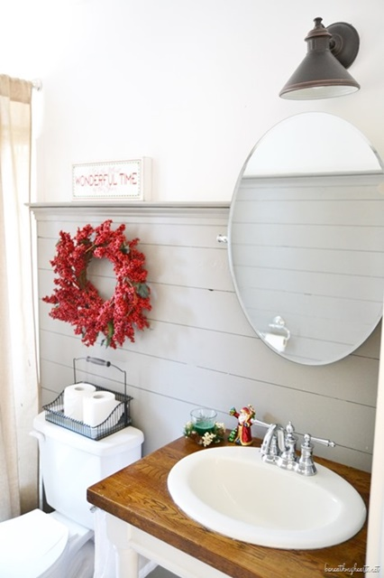 Guest Bathroom with Shiplap Walls