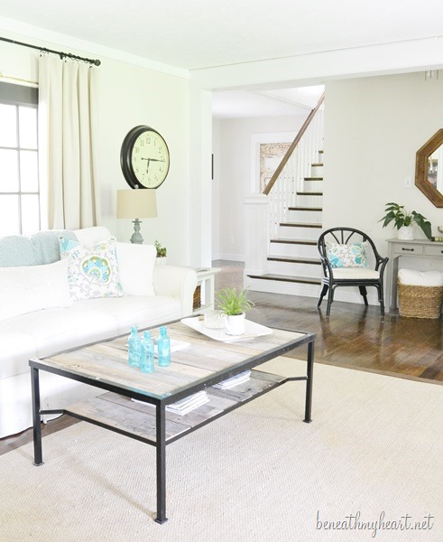 Light and Airy White Living Room