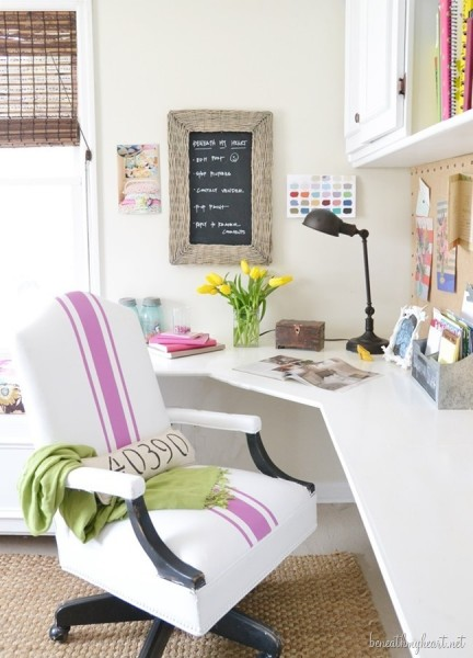 Office with French Style Chair