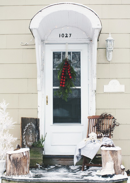 Nordic Style Christmas Porch at Thoughts from Alice