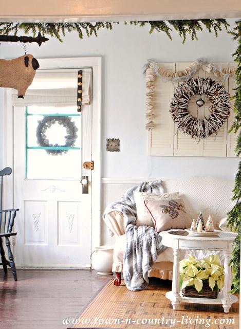 Christmas Farmhouse Living Room