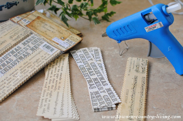 Vintage Paper Chain Garland Kit