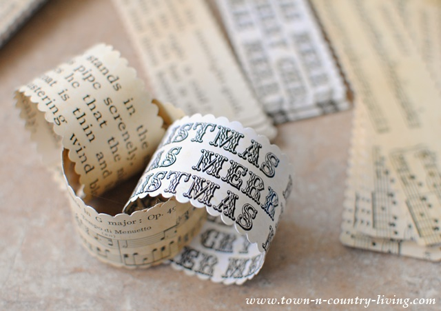 Vintage Paper Chain Garland Kit