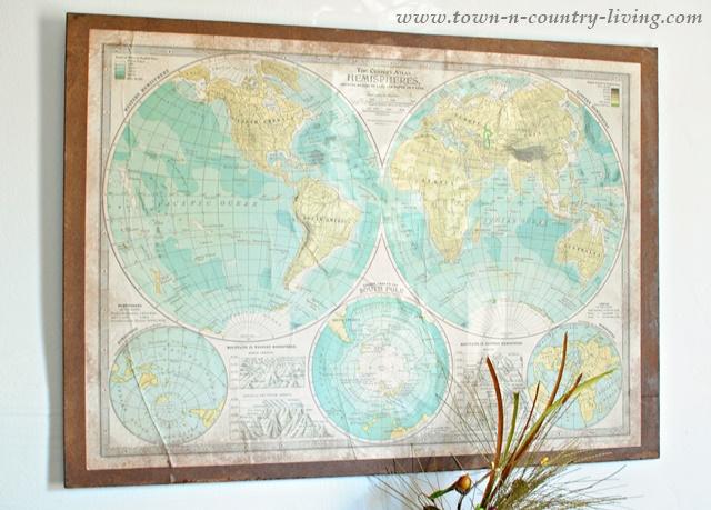 Decorative Wall Map