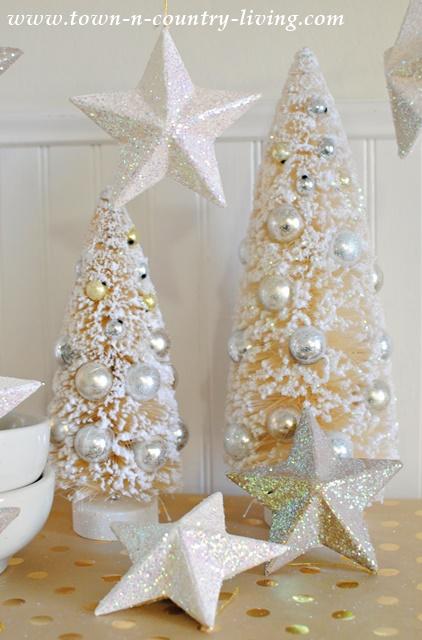 Paper Mache Christmas Star Ornaments
