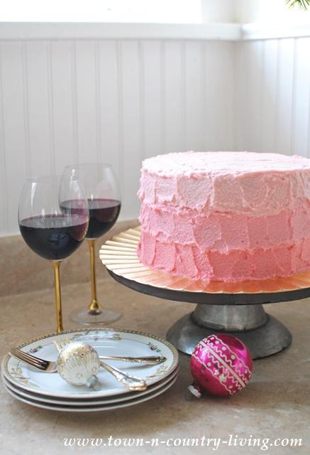 Wintermint Ombre Cake