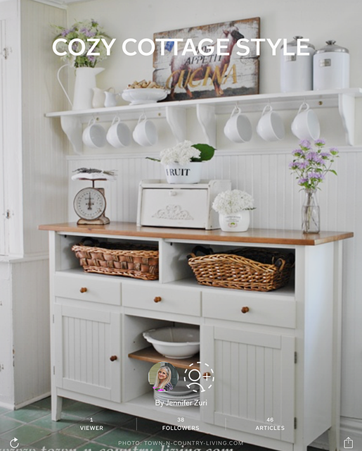 cozy cottage style flipboard magazine town country living