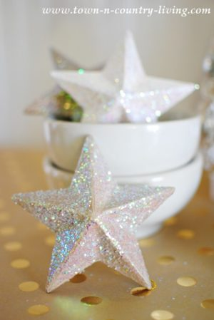 Paper Mache Christmas Star Ornaments