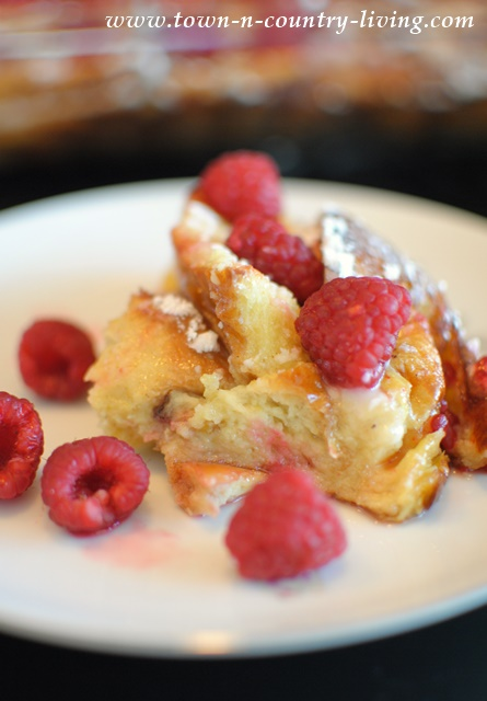 Lemon Brioche French Toast Casserole with Berries