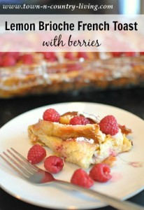 Lemon Brioche French Toast with Berries