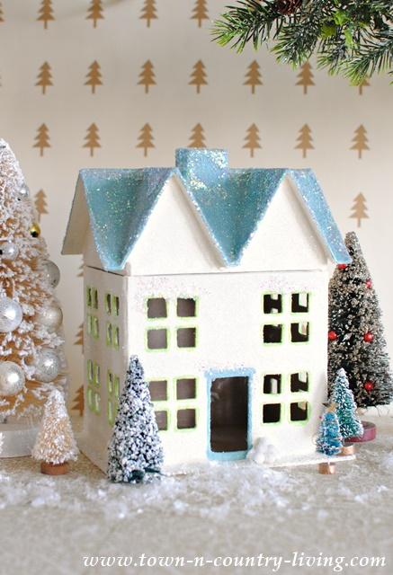 Paper Mache Christmas Boxes - Town & Country Living